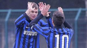 Samuele Longo (left), playing his club football with Inter Milan, came close for the Italians against Cyprus.
