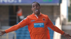 Tom Ince celebrates as Blackpool make a bright start to the season. Picture: Getty