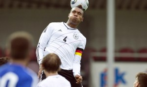 Jonathan Tah captains the German Under 17 side against San Marino.