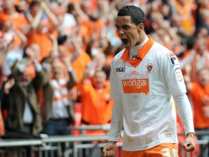 Blackpool's Thomas Ince managed to get on the scoresheet.