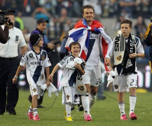 David Beckham's son Brooklyn was previously at LA Galaxy's academy.