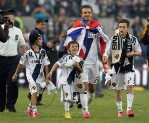 David Beckham's son Brooklyn was previously at LA Galaxy's academy.