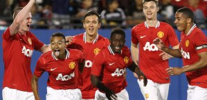 Man United celebrate a highly successful, but not triumphant, 2012 tournament.