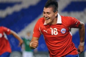 Chile's Nicolas Castillo is lethal from set-pieces.