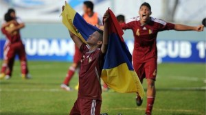 Venezuela were ecstatic at their qualification. Picture from FIFA.com.