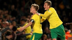 Cameron McGeehan scored the penalty which gave Norwich the lead coming into tonight's tie.