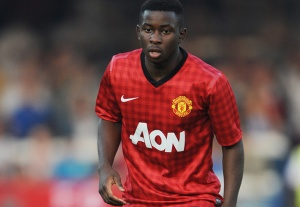Larnell Cole scored all three goals in Man United's win.
