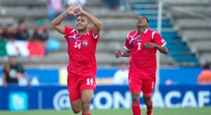 Aricheell Hernandez is Cuba's key striker.