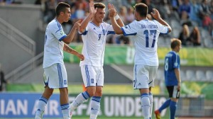 Greece forward Dimitris Diamantakos was the second top scorer at the UEFA Under 19 European Championship.
