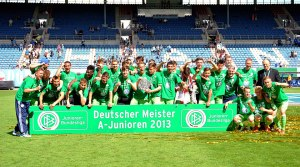 Wolfsburg are the reigning champions of Germany's highest level of youth club football.