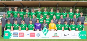 There's a lot of new faces in Bremen's U19 squad.