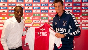 Queensy Menig grabbed a brace for Ajax.