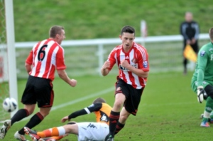 George Honeyman scored twice for Kevin Ball's side.