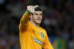 Fraser Forster is England's only senior playing plying their trade outside of the Premier League.