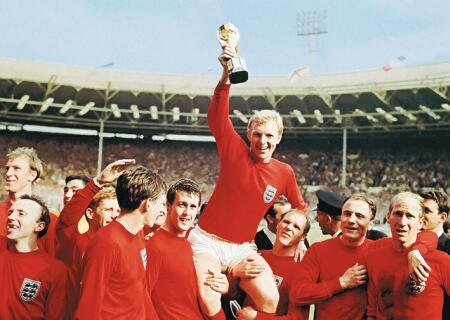 Iconic: England have failed to triumph in any major tournament since they won the World Cup on home soil in 1966.