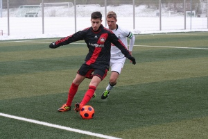 Kemal Ruzgar came off the bench to score a double for Leverkusen.