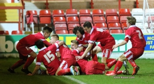 Accrington Stanley caused the shock of the third round last night. Image: Kipax.com