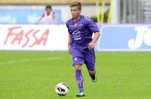 Axel Gulin scored Fiorentina's first to put them 3-0 up on aggregate.