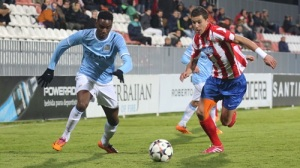 Devante Cole scored Man City's only goal in Spain last night. Image: mcfc.com