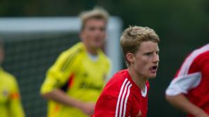 England U17 international Josh Sims was introduced in the second half. Image: saintsfc.co.uk